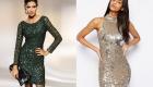 Robe courte à la mode en paillettes 2020