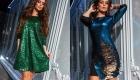 Belle robe de paillettes brillantes pour le nouvel an 2020