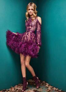 Robe lilas à la mode