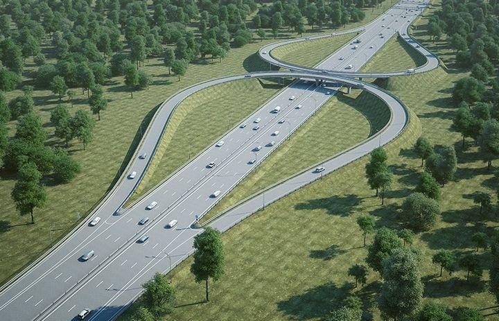 Reconstruction de l'autoroute Gorki