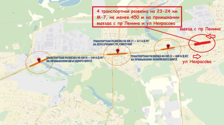 Le schéma de reconstruction de l'autoroute Gorki