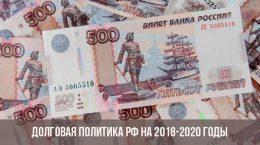 Politique de la dette de la Fédération de Russie