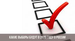 Quelles élections auront lieu en 2020 en Russie
