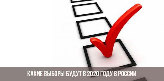 Quelles seront les élections en 2020 en Russie