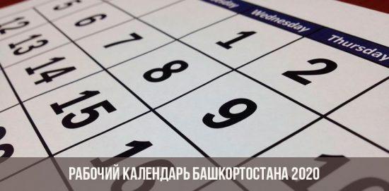 calendrier de travail du Bachkortostan 2020