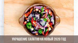 Décoration de salade pour le nouvel an 2020
