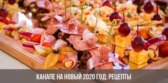 Canapés pour la nouvelle année 2020: recettes