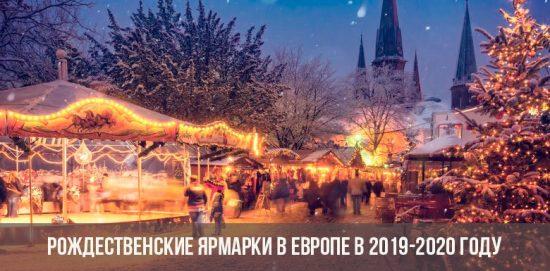 Marchés de Noël en Europe 2019-2020