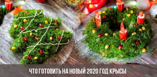 Que cuisiner pour les rats de la nouvelle année 2020