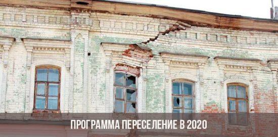 Programme de réinstallation d'urgence de logements 2020