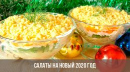 Salades pour le Nouvel An 2020