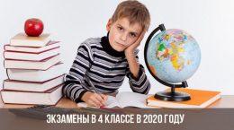 Examens de 4e année en 2020