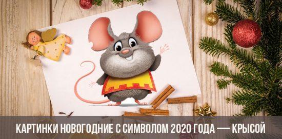 Photos du Nouvel An avec le symbole de 2020 - rat