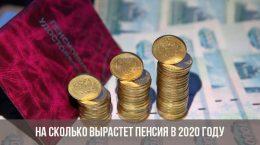 Combien de pension va augmenter en 2020