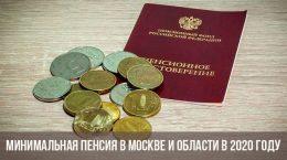 Pension minimale à Moscou et région de Moscou