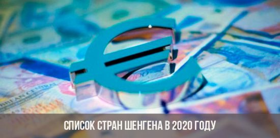 Pays Schengen en 2020