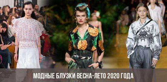 Blouses tendance printemps-été 2020