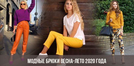 Pantalon à la mode printemps-été 2020
