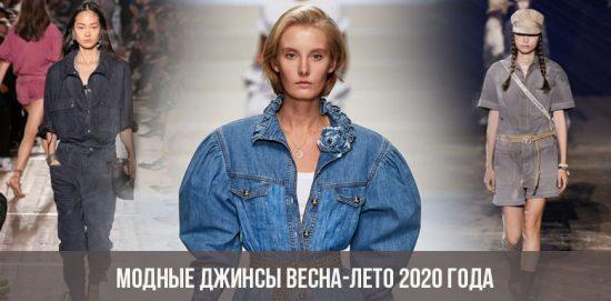 Jean à la mode printemps-été 2020