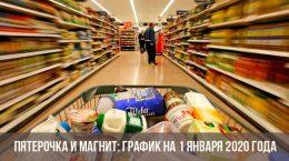 Programmez Pyaterochka et Magnet dans la nouvelle année